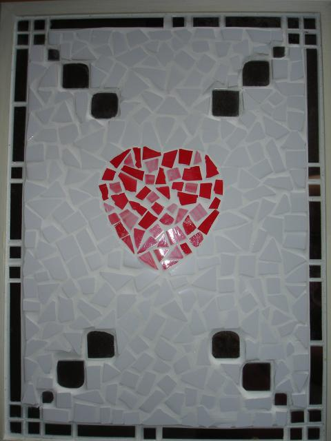 mirror heart mosaic