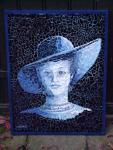 Woman in blue