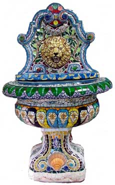 Lionhead Mosaic Water Fountain by Xuan My Ho