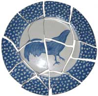 Broken China Plate Mosaic