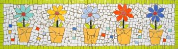 Mosaic Tile Flower Table