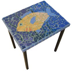 Mosaic Fish Table